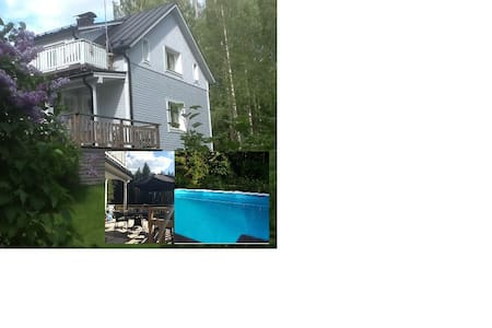 Large house - Heated swimming pool and 3 saunas - Hus