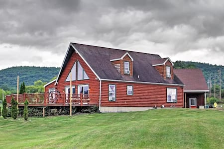 Lakefront 4BR Ticonderoga 'Log Chalet' on 8 Acres - Ticonderoga