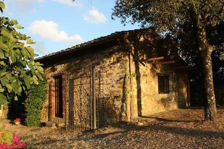 Kleines Zauberhäuschen auf Chiantihügel bei Siena - Hus