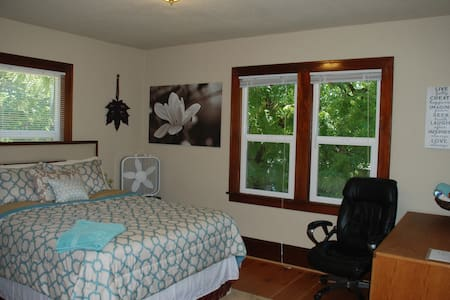 Clean Big Room w. Queen bed, Desk, Wi-Fi, Fridge - House