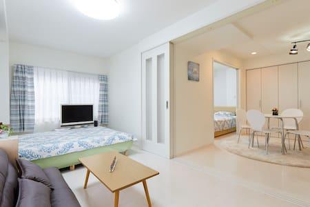 new open!Located 3 station 1min wi-fi 2LDK 6 bed! - Lägenhet