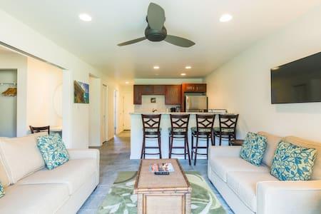 Oceanfront Sandy Beach 2br Modern, No Stairs W/D! - Kapaa - Condominium