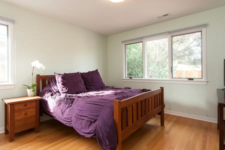 Bright master bedroom suite