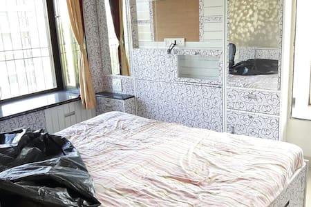 Pvt bedroom in Fully furnished 2BHK Thane GB Rd - Lakás