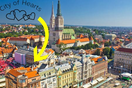 City of Hearts 1- Dolac City Market - Zagreb - Wohnung
