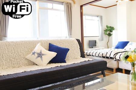 New☆3bed 2Min station☆7Min NambaDotonbori1 - Apartment