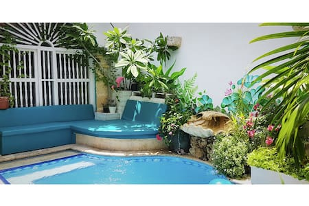 #1 Vibey Colonial Oasis Coutyard Pool & Workspace - Cartagena