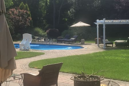 Private wing, bed, bath, salt pool - Cold Spring Harbor - Maison