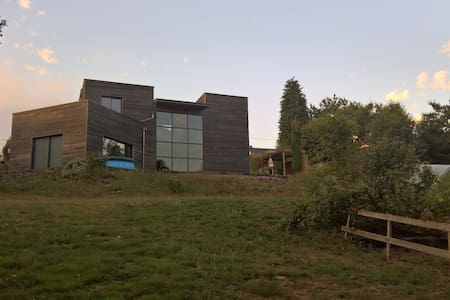 Maison contemporaine en bois - Lassy - House