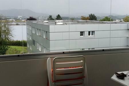 Großzügige Wohnung bei Bern mit schönem Ausblick! - Ittigen - Apartment