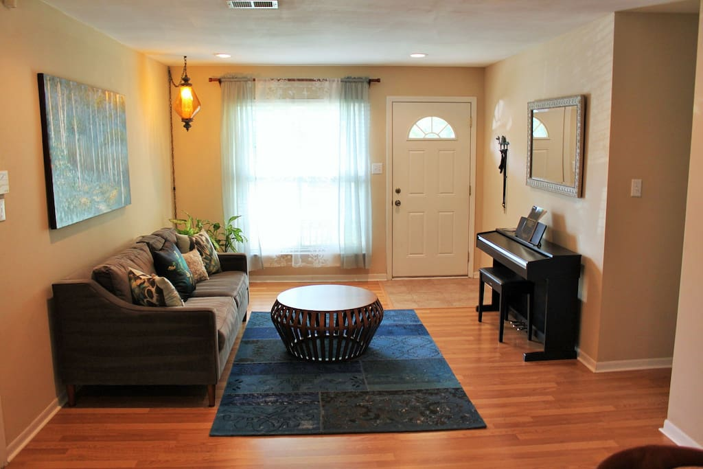 Formal Living with piano keyboard
