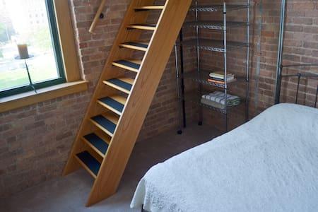 Bedroom in Historic Chicago Loft