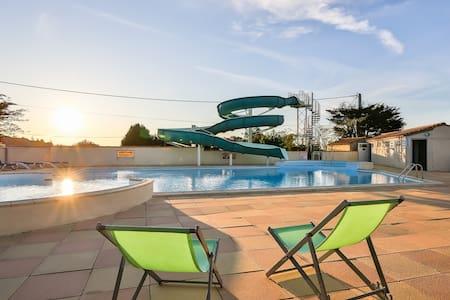 Chalet bois 5 places sur camping avec piscine - La Mothe-Achard - Chalet