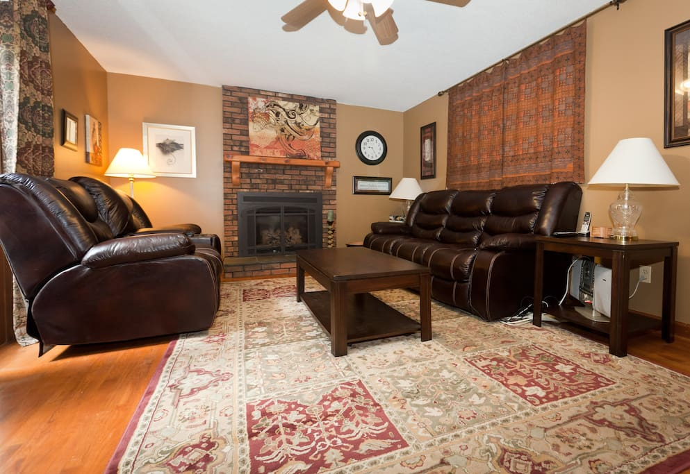 The family room where all the hanging out happens!