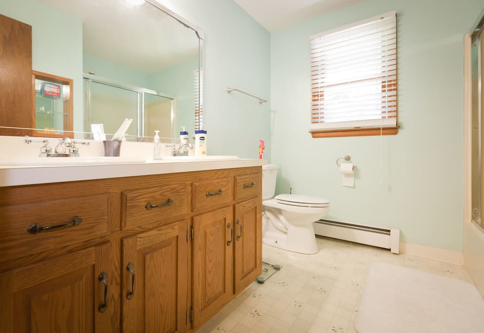YOUR bathroom - across the hall from your bedroom