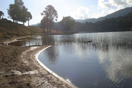 Lindas Cabañas orilla lago Icalma   - Srub