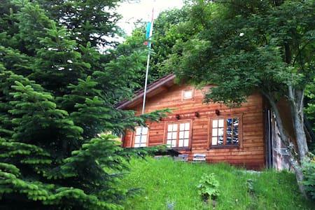 Idyllische Blockhütte in der Natur - Faház