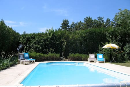 Peaceful self-catering studio, pool - Grospierres - Appartement