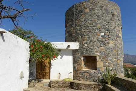 Windmill house by the sea - Elounda - Huvila
