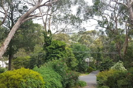 One bedroom with queen-sized bed in spacious Upwey home, overlooking scenic views. Guest also have their own lounge room and bathroom (includes bath and shower.) Basic breakfast included, continental is extra.
