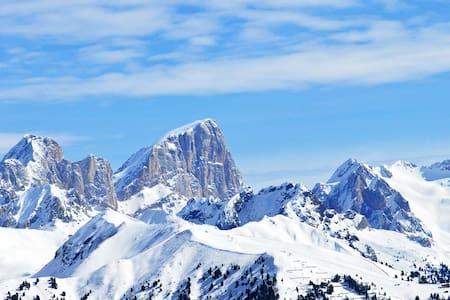 Tiny- central- Dolomites view- FLAT - Pozza di Fassa - Apartment