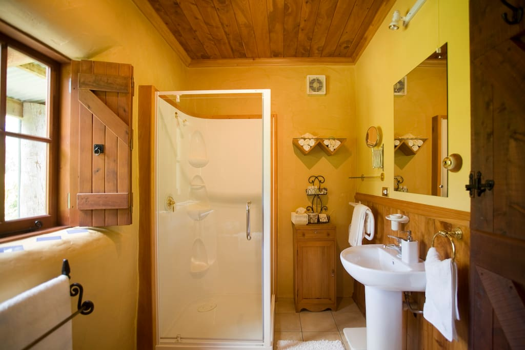 Bathroom with claw foot bath and separate toilet