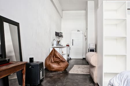 Industrial-Style Studio Apartment