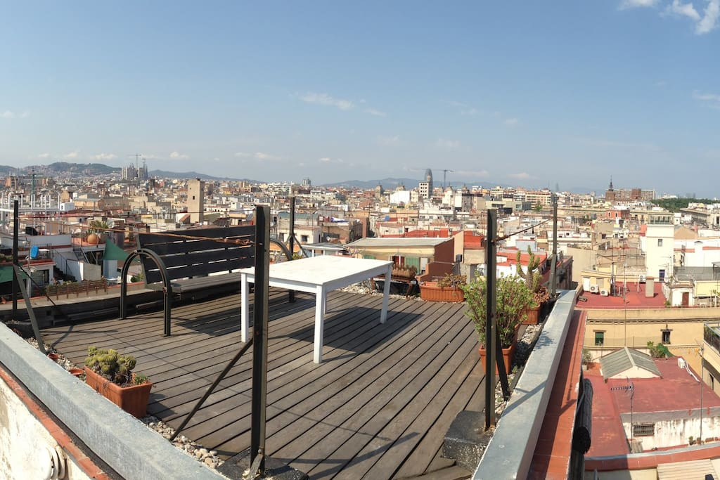 Private roof top terrace with 360° panorama