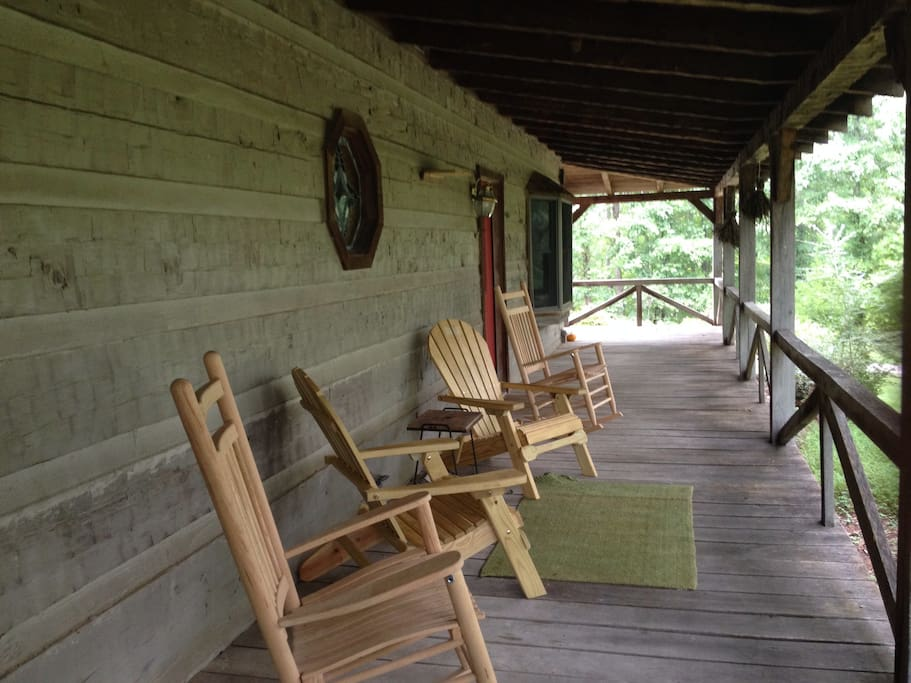 Relax on wrap around porch.