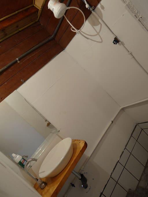 Shower corner in the bathroom.