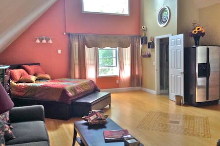 Cozy studio apartment in the woods - Newbury - Apartemen
