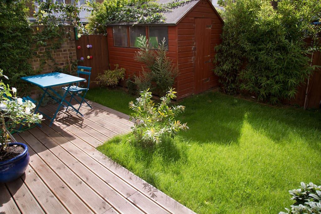 Garden in summer mode