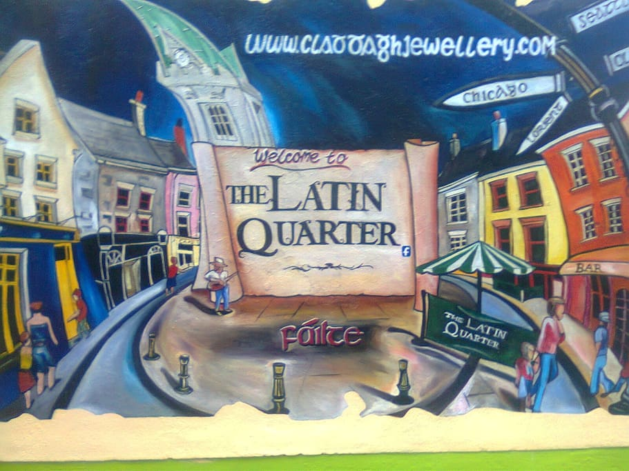 We are 10 minutes stroll from this mural - this is at the beginning of Shop St near Spanish Arch