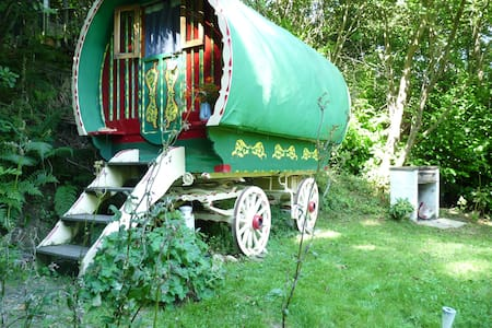 Romantic Romany Wagon, Perfect peace & seclusion - Ceredigion - Mökki