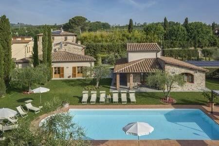 Villa Tontenano Chianti private pool  for 7 people - Villa
