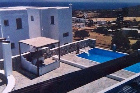 Traditional house breathtaking sea view with pool - Paros