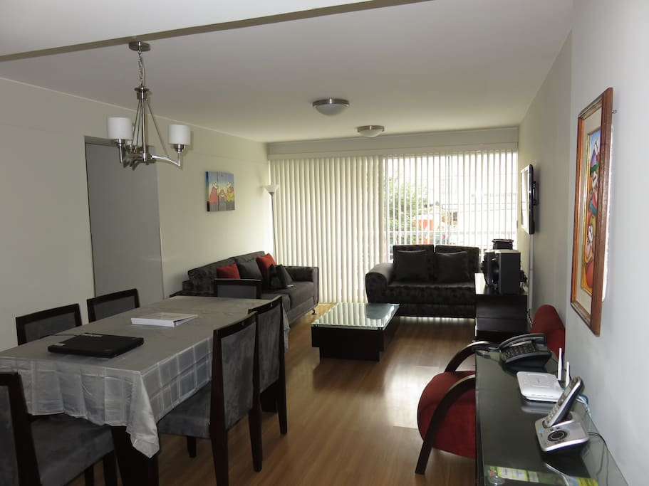 Beautiful fully equipped modern apartment in the heart of miraflores!