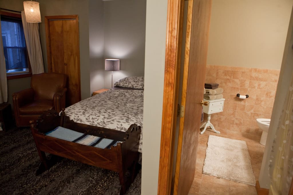 There is a full bathroom in the room which was recently renovated and updated.