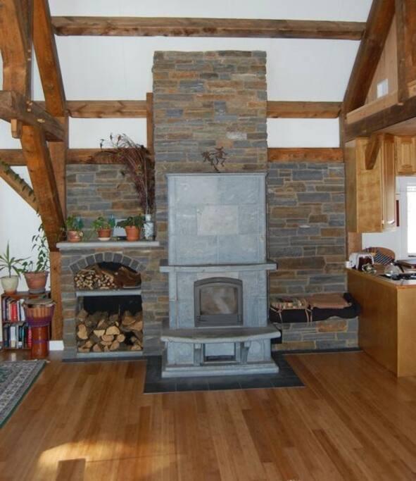 masonry stove