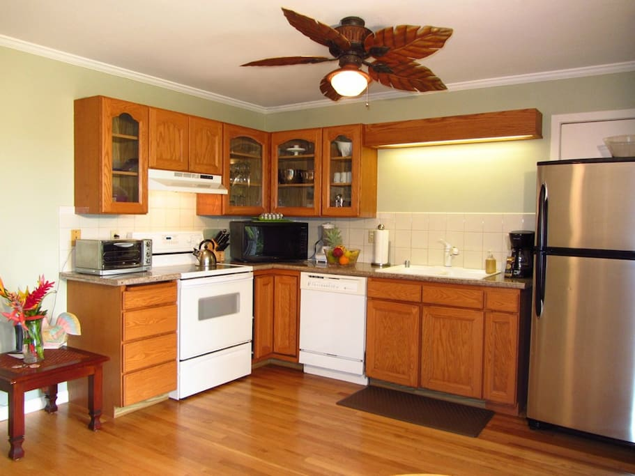 Kitchen with dishwasher and full sized refrigerator