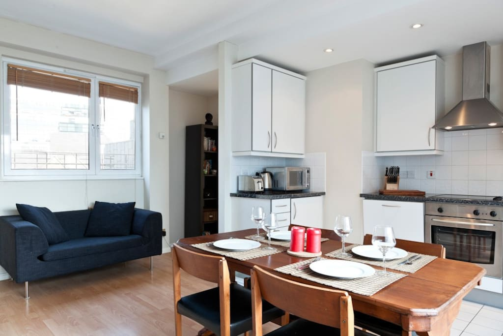 Laundry facilities, WIFI and a fully equipped kitchen, everything you need is here for you