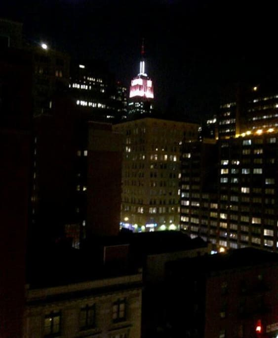 View of the Empire State Buidling from the apartment window