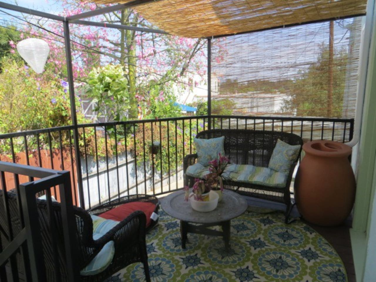 Open your bedroom door and relax on the back deck.