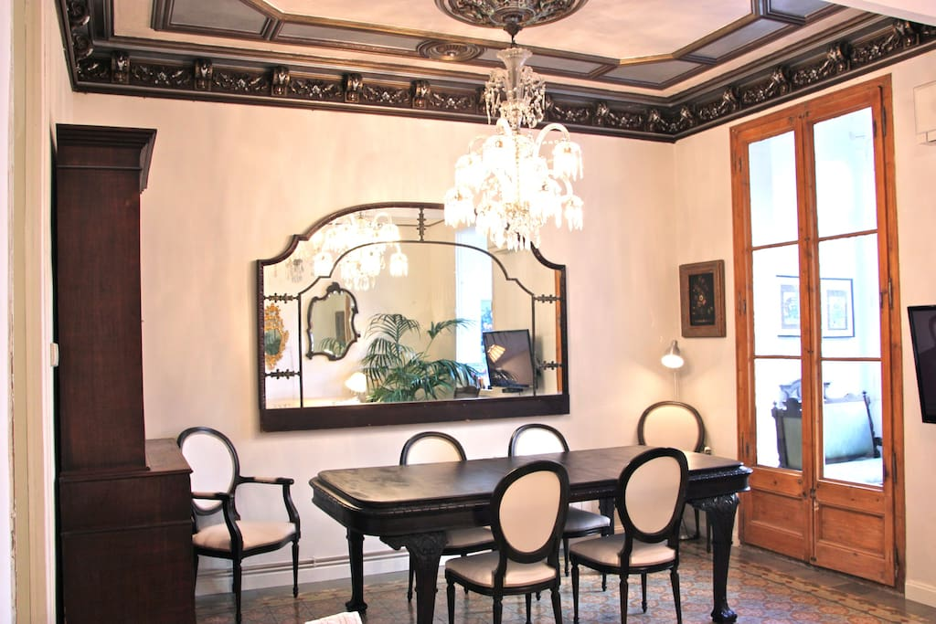 Dining room exit to sun room
