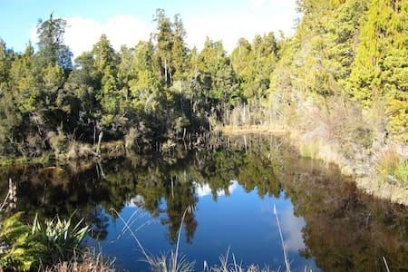 Ruru Hut getaway in NZ West Coast - Awatuna - Skjul