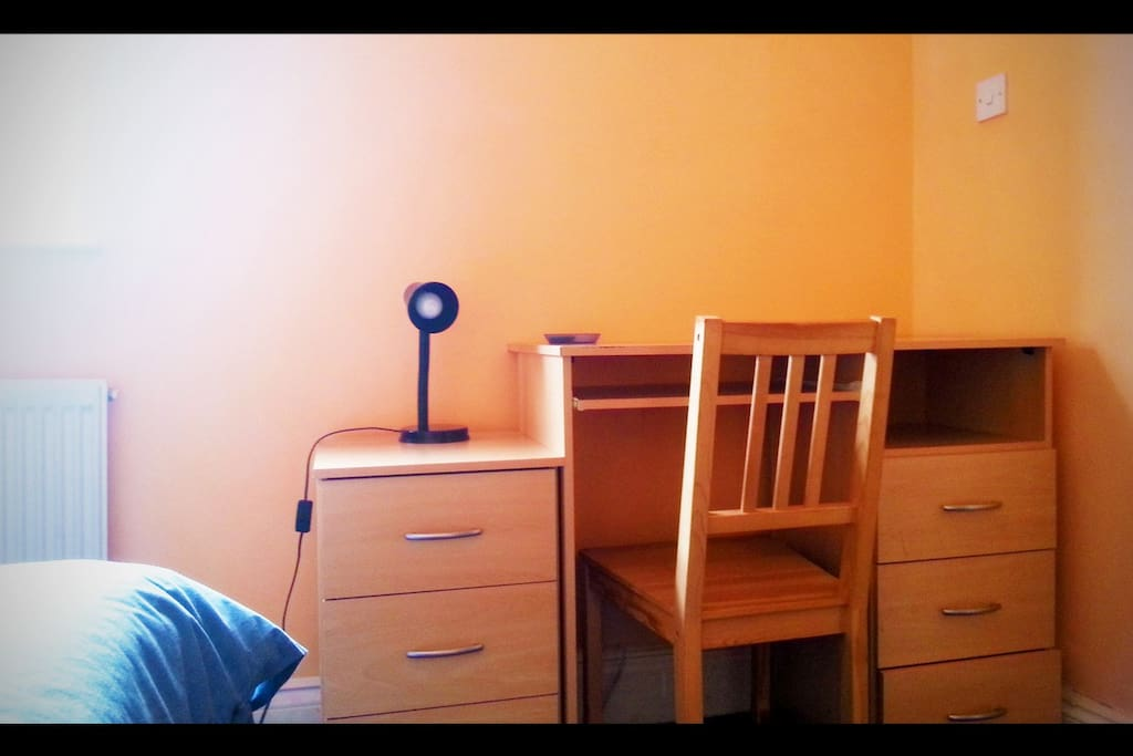 New arrangement of desk and chair