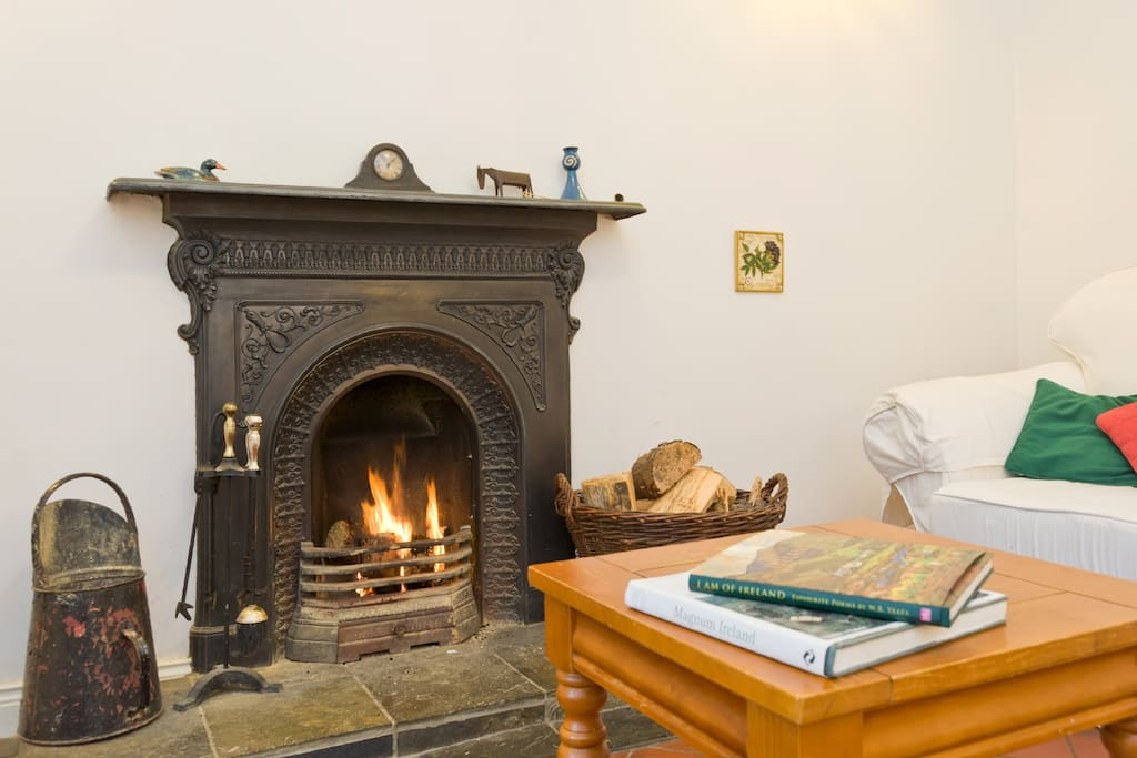 We supply some turf for the fire as well as firelighters and matches so you can enjoy a traditional Irish siting room.