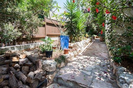 Private garden unit, Merkaz  Carmel - Haifa - House