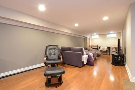 Spacious basement with kitchenette