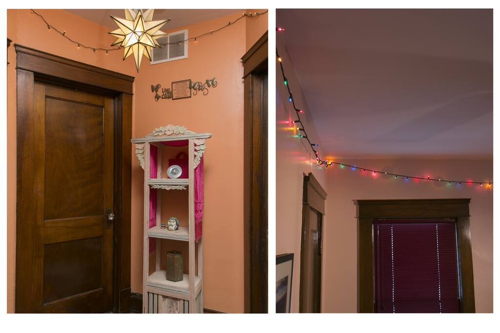 The Christmas lights add a nice warm glow to your bedroom and the hallway.